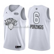 Maillot NBA Pas Cher New York Knicks Kristaps Porzingis 6# White 2018 All Star Game Swingman..